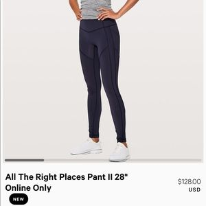 All the right places navy Lululemon's